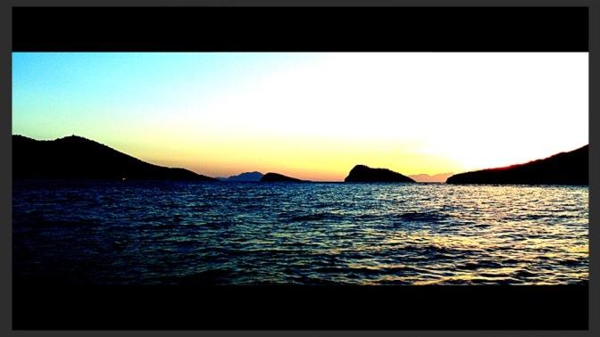 Looking west towards Rhodes