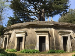 With mausoleums build around the its base