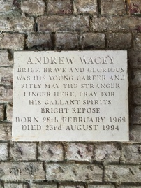 Andrew Wacey, brief, brave and glorious!