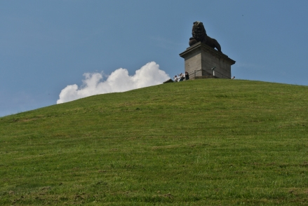 Lions Mount overlooks the battlefield of Waterloo